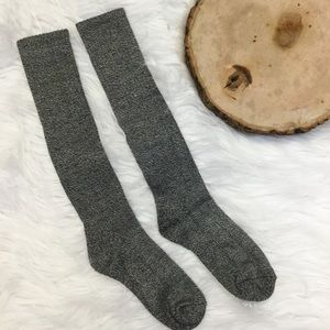 Accessories - Black & White Speckled Boot Socks
